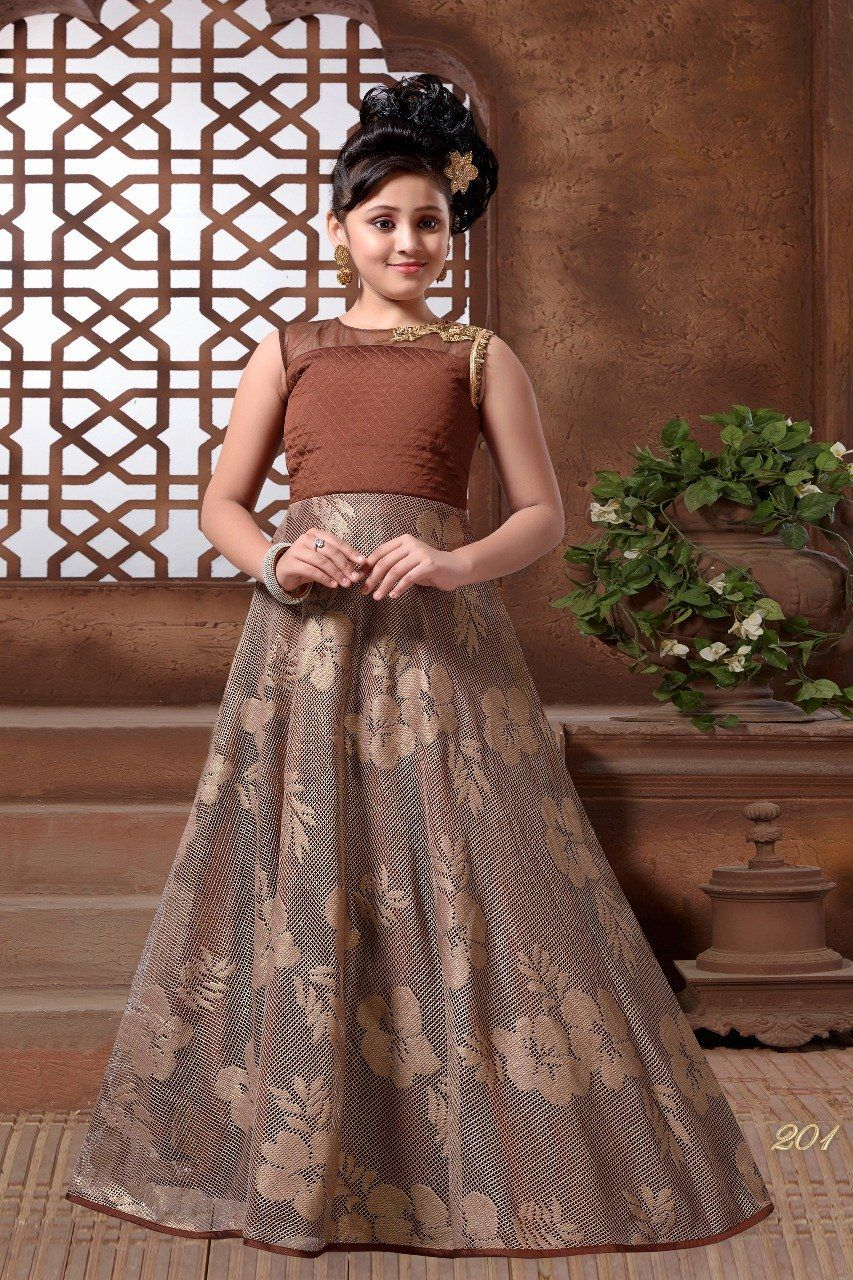 Sparkling silk embroidered kids wear dresses products pinterest