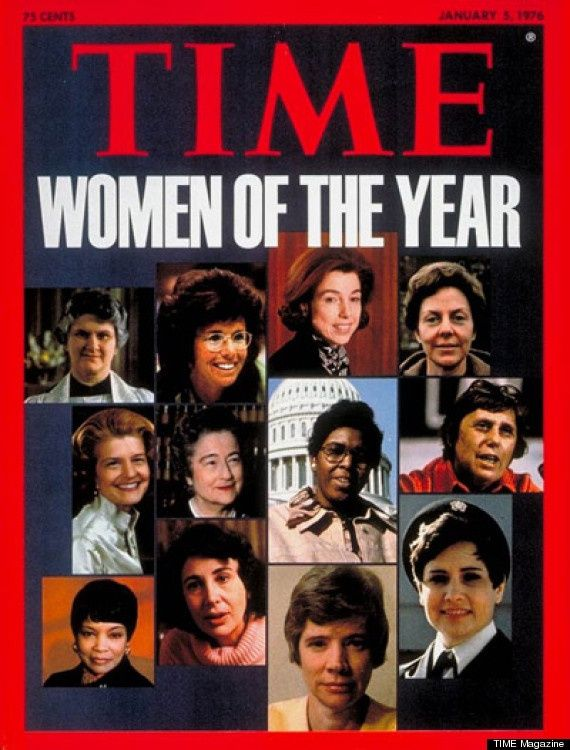 "1975 TIME  - ""Woman of the Year"" - THE AMERICAN WOMAN - The magazine declared that ""enough U.S. women have so deliberately taken possession of their lives that the event is spiritually equivalent to the discovery of a new continent."""