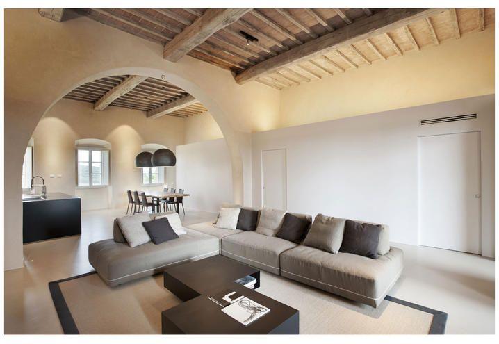 casa-colonica-toscana-restauro-architettonico-soggiorno | Living ...