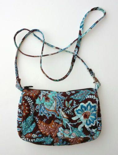 8c98fed3d8 Vera Bradley Crossbody Bag Java Blue Retired Pattern Purse Small ...
