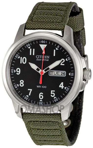 Citizen Eco-Drive 180 BM8180-03E   75. It doesn t look that good with the  ugly canvas strap it comes with 6c89fc9332