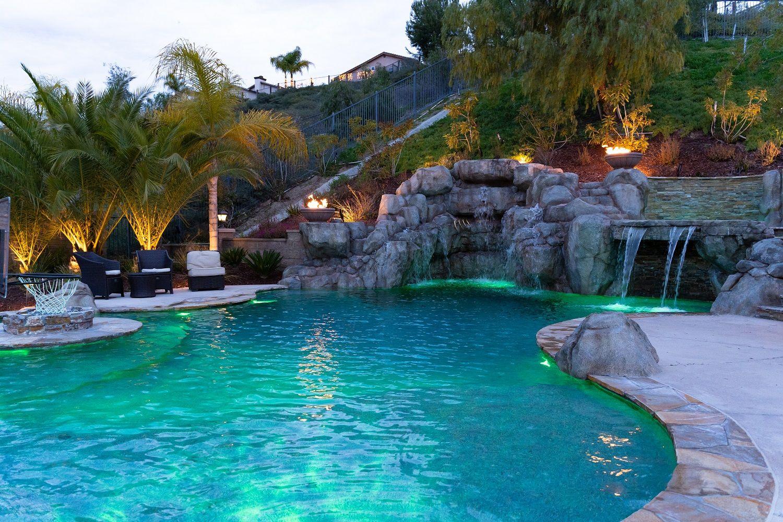 Backyard Oasis in 2020 | Pool builders, Pool, Backyard oasis