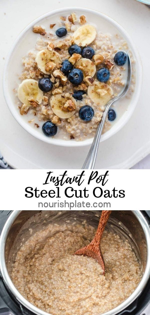 Instant Pot Steel Cut Oats is a delicious and healthy recipe that will provide you with nutritional benefits which will boost you through the day! It's a fail proof recipe which is very easy to make in less that 30 minutes! #steelcutoats #instantpotbreakfast #instantpotoats