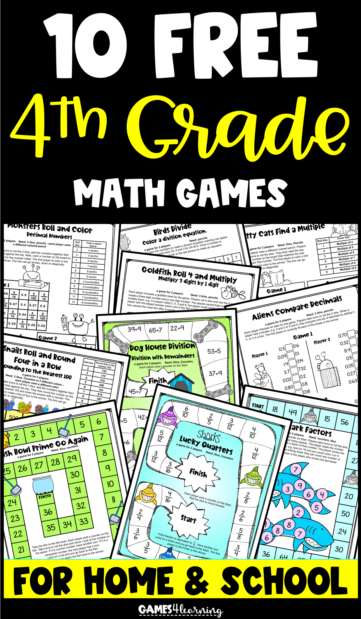 Free 4th Grade Math Activities In 2020 Math Games Free Math Games Fourth Grade Math [ 2125 x 1239 Pixel ]