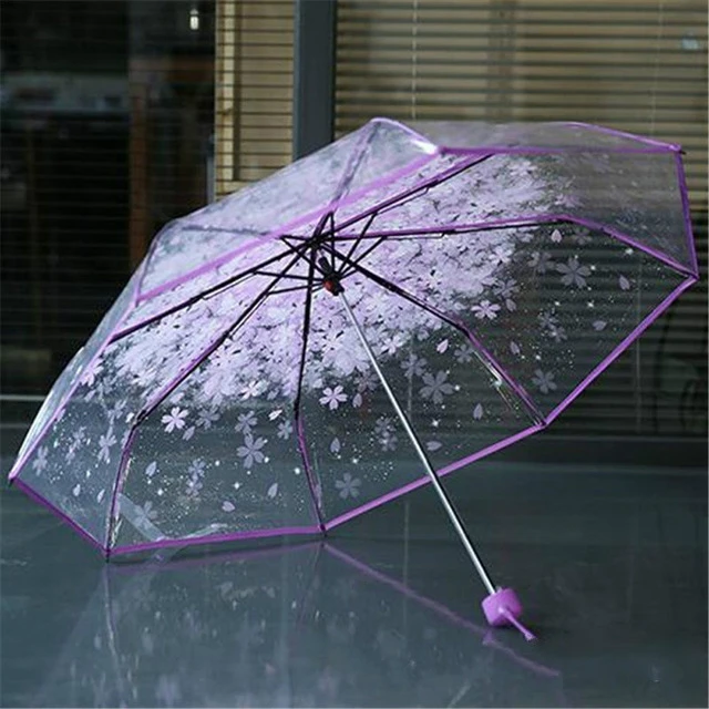 Umbrella Transparent Multicolor Clear Umbrella