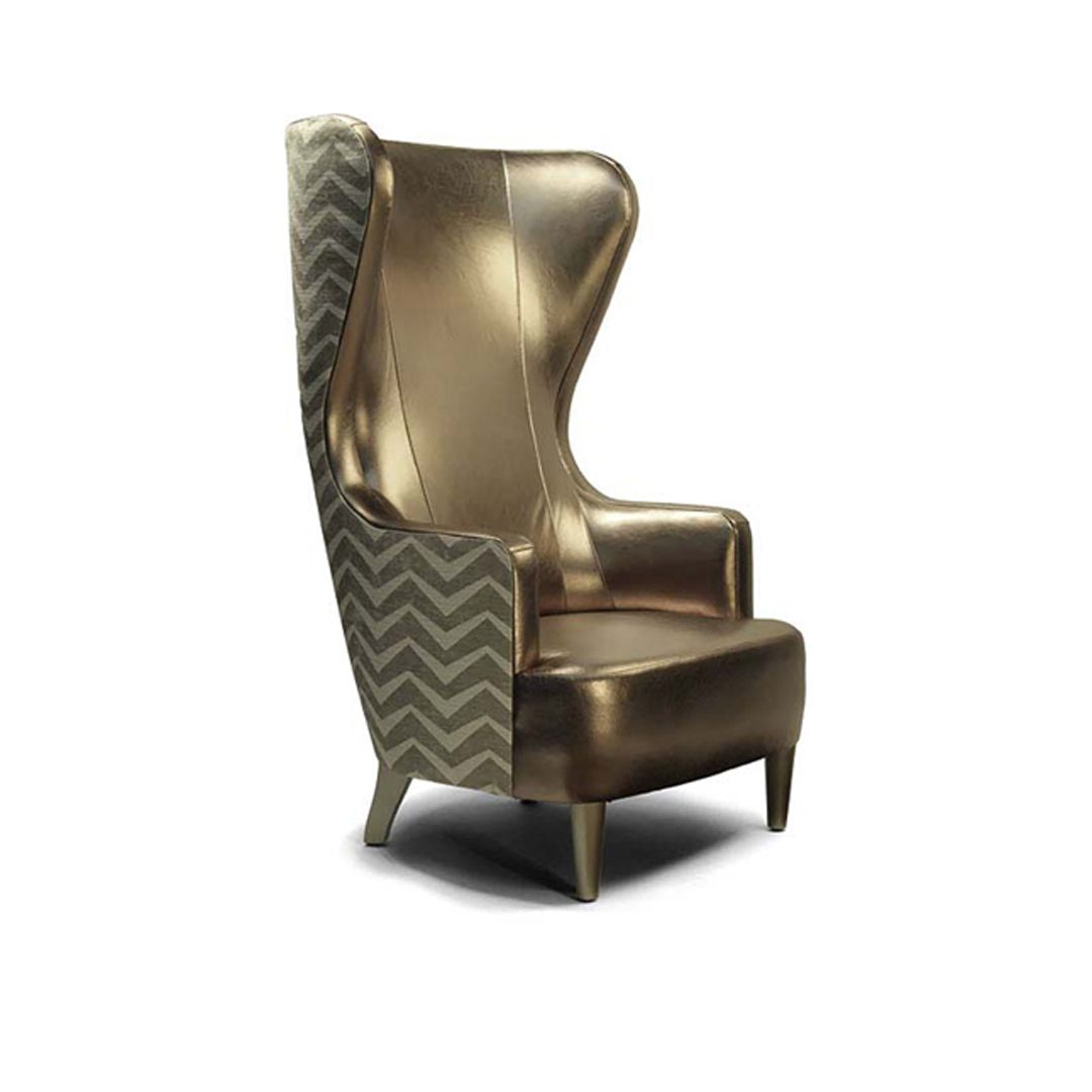 Gavin High Back Wing Lounge Chair Indoor Commercial Hospitality