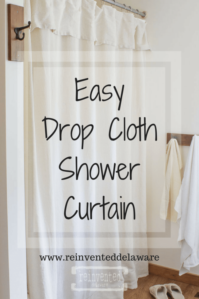 Easy Diy Farmhouse Style Drop Cloth Shower Curtain With Only 5