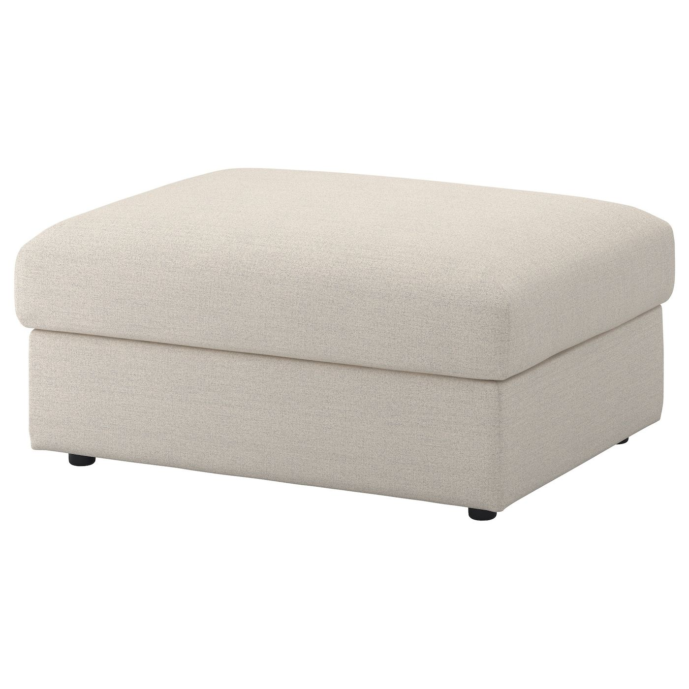 Vimle Gunnared Beige Footstool With Storage Ikea In 2020 Storage Footstool Storage Ottoman Ikea