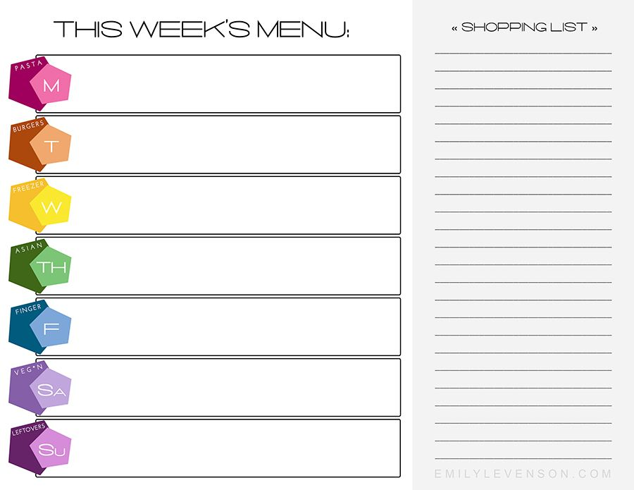 All New Menu Planner Templates (Free Download)! u2013 Emily Levenson - menu planner templates
