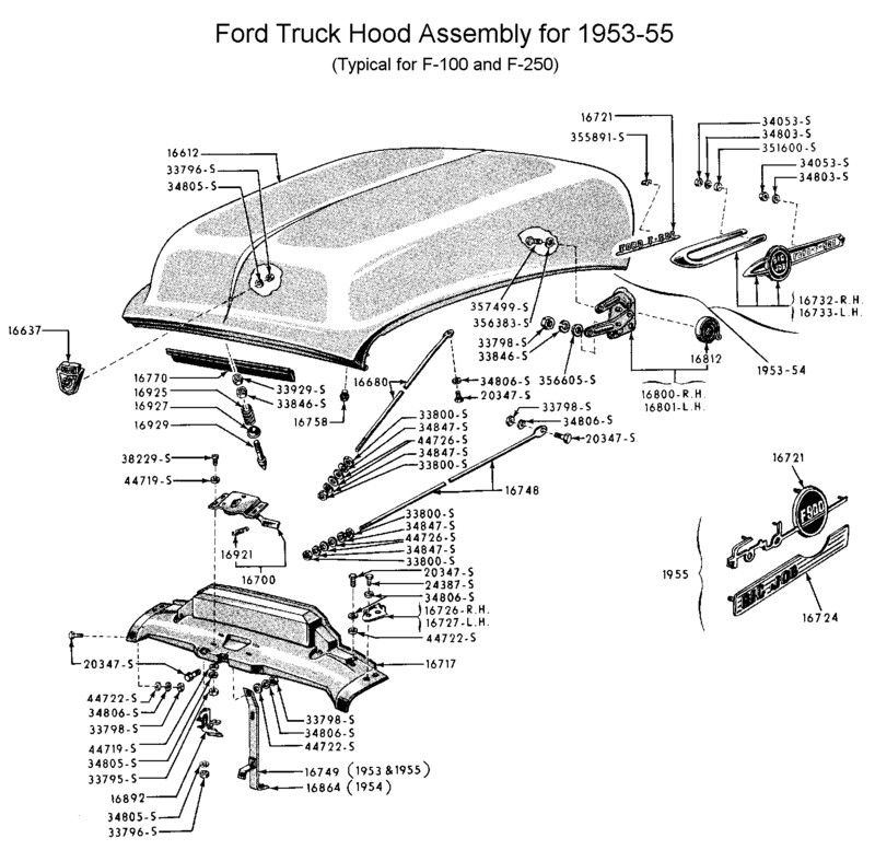 1956 Ford Truck Frame Dimensions from Shop Manual | trucks ...