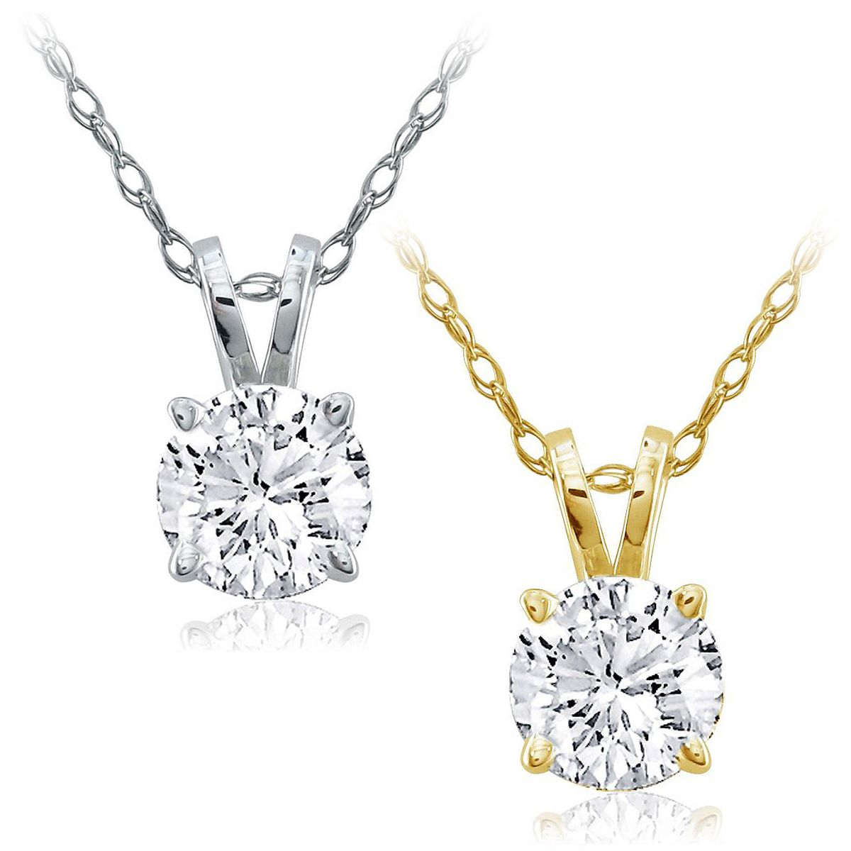 75ct 34ct round cut genuine hi1 diamond in 14k gold solitaire 75ct 34ct round cut genuine hi1 diamond in 14k gold solitaire pendant chain aloadofball Choice Image