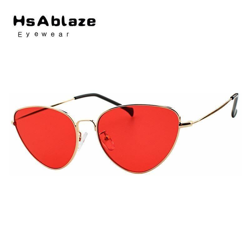 99bbd1a7d2c Cat Eye Sunglasses Vintage Metal Retro Women Mirror Shape Uv400 ...