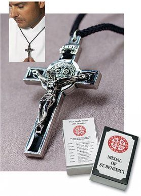 Amazon.com: Men or Womens Catholic & Religious. St. Benedict Exorcism Medal Pendant on Cord. Lay Catholics Are Not Permitted to Perform Exor...