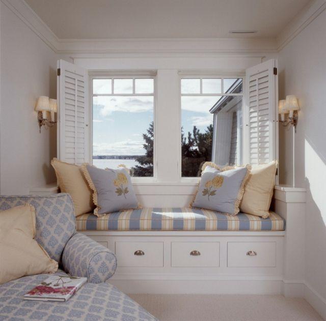 window seat ou l am nagement chambre l ambiance douillette maison pinterest. Black Bedroom Furniture Sets. Home Design Ideas