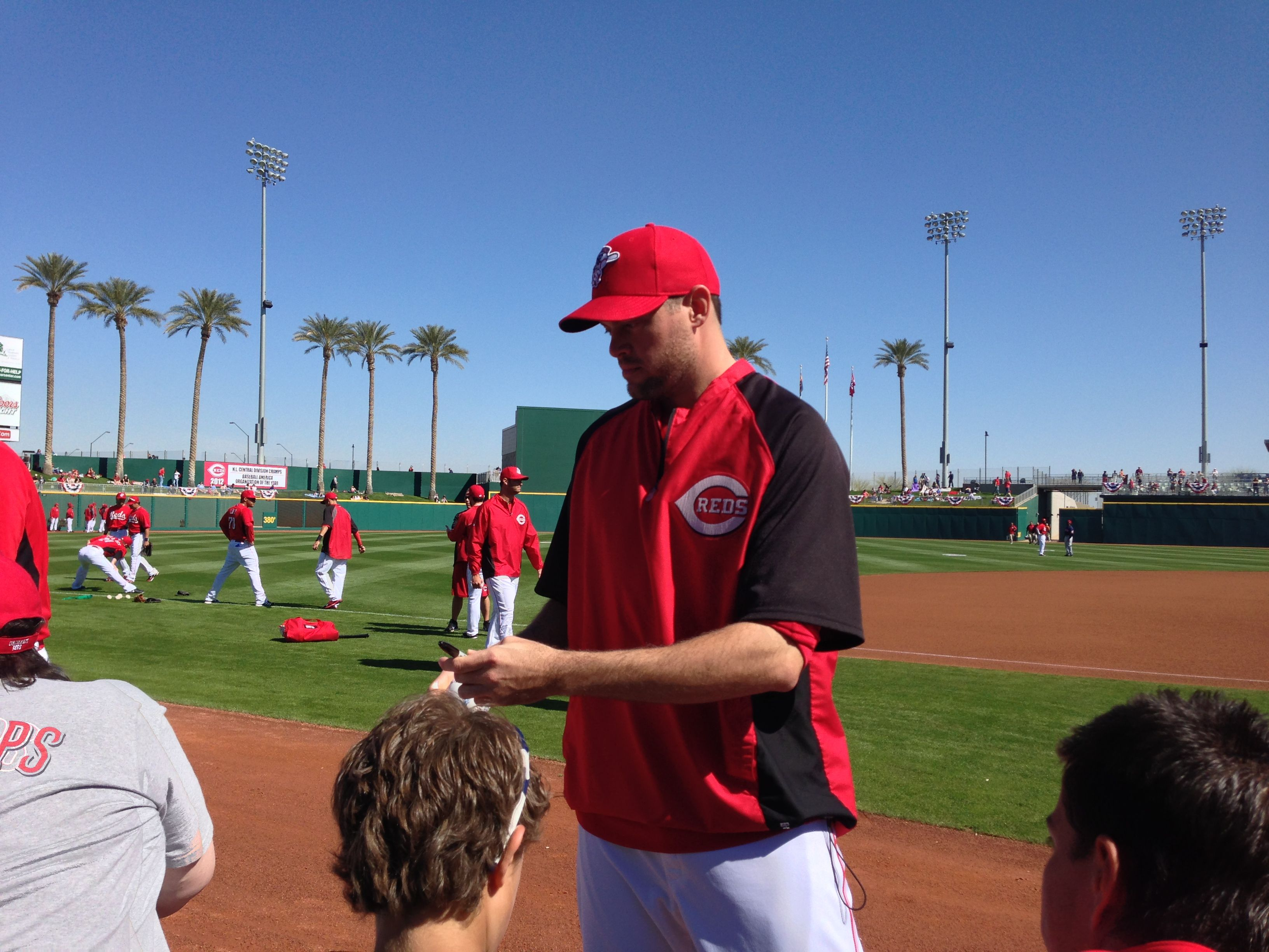 Sean Marshall Reds spring training, Cincinnati reds