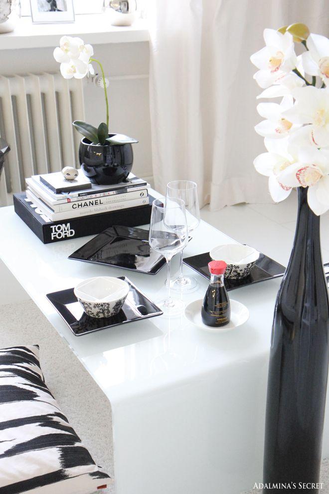 Sushi dinner in livingroom - Adalmina's Secret