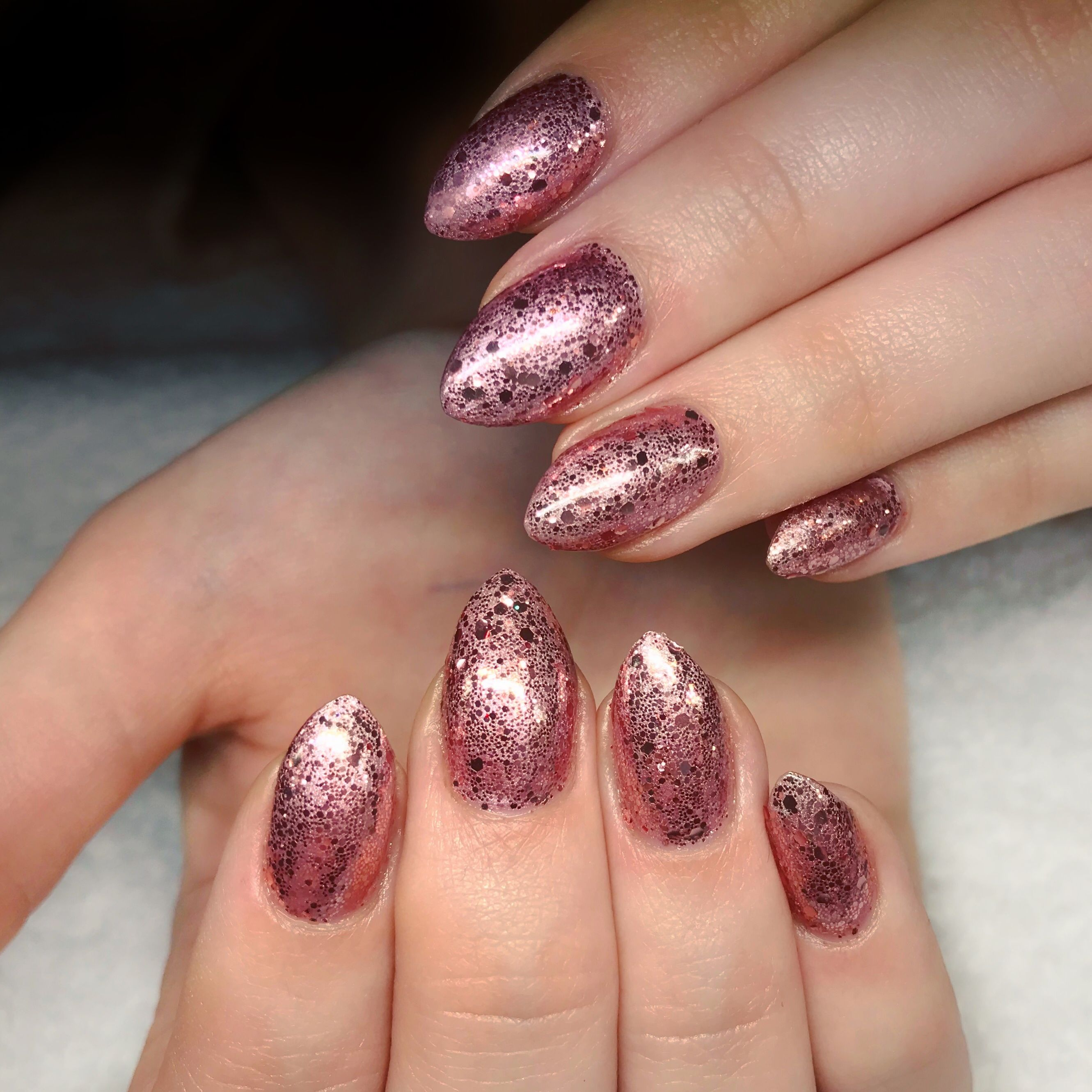 Lecenté New York Pink Multi Glitz nails by Jenny Nagorski | Lecenté ...