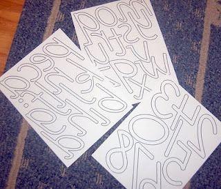 D Nealian Sandpaper Letters Template