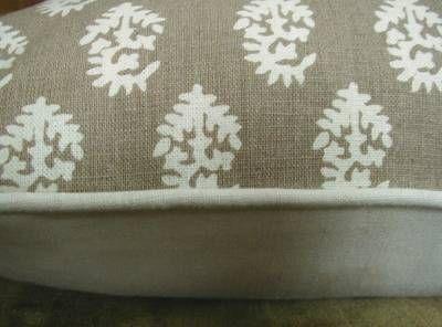 handprinted hemp/cotton (looks and feels like linen) fabric by Peter Dunham called Rajmata.