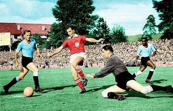 Image result for uruguay vs checoslovaquia 1954