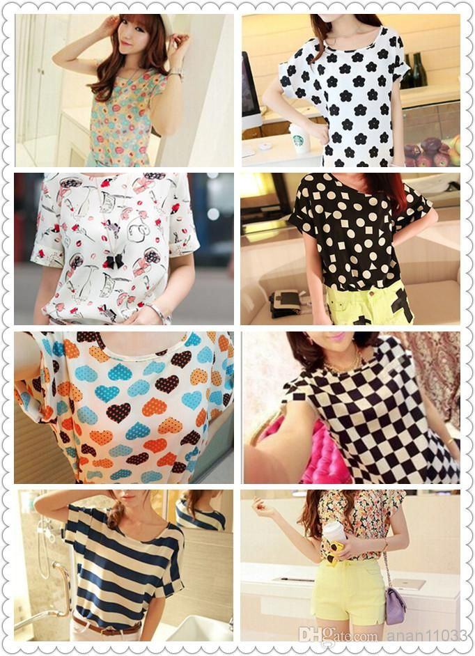 Wholesale Printed T Shirt - Buy New S-XXL, Hot Sale Women Bird Colorful  Batwing Sleeve Chiffon Shirt, Loose Blouse,  3.13   DHgate.com 2c151bd30d7f