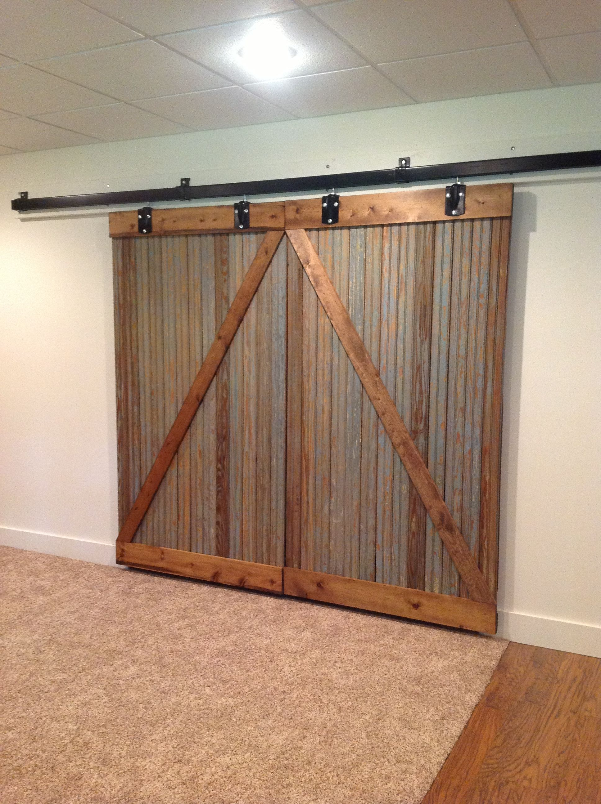 Barn Doors Nice Way To Hide The Furnace Room But Still Be Able To