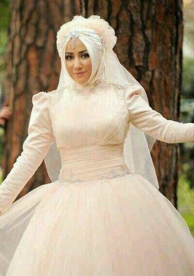 Hijab Wedding Dresses Bridal Fashion Muslim Oriental Dress