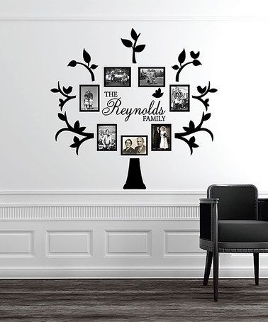 Another Great Find On Zulily Black Personalized Family Tree Wall