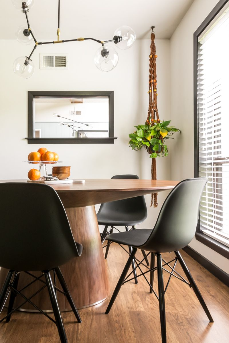 Natural Wood Furniture And Floors Complement The Neutral Color Palette In This Modern Dining Room