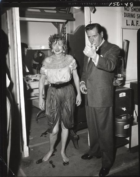 Lucy Grape Stomping in Color | Lucy and Desi on the set of ...