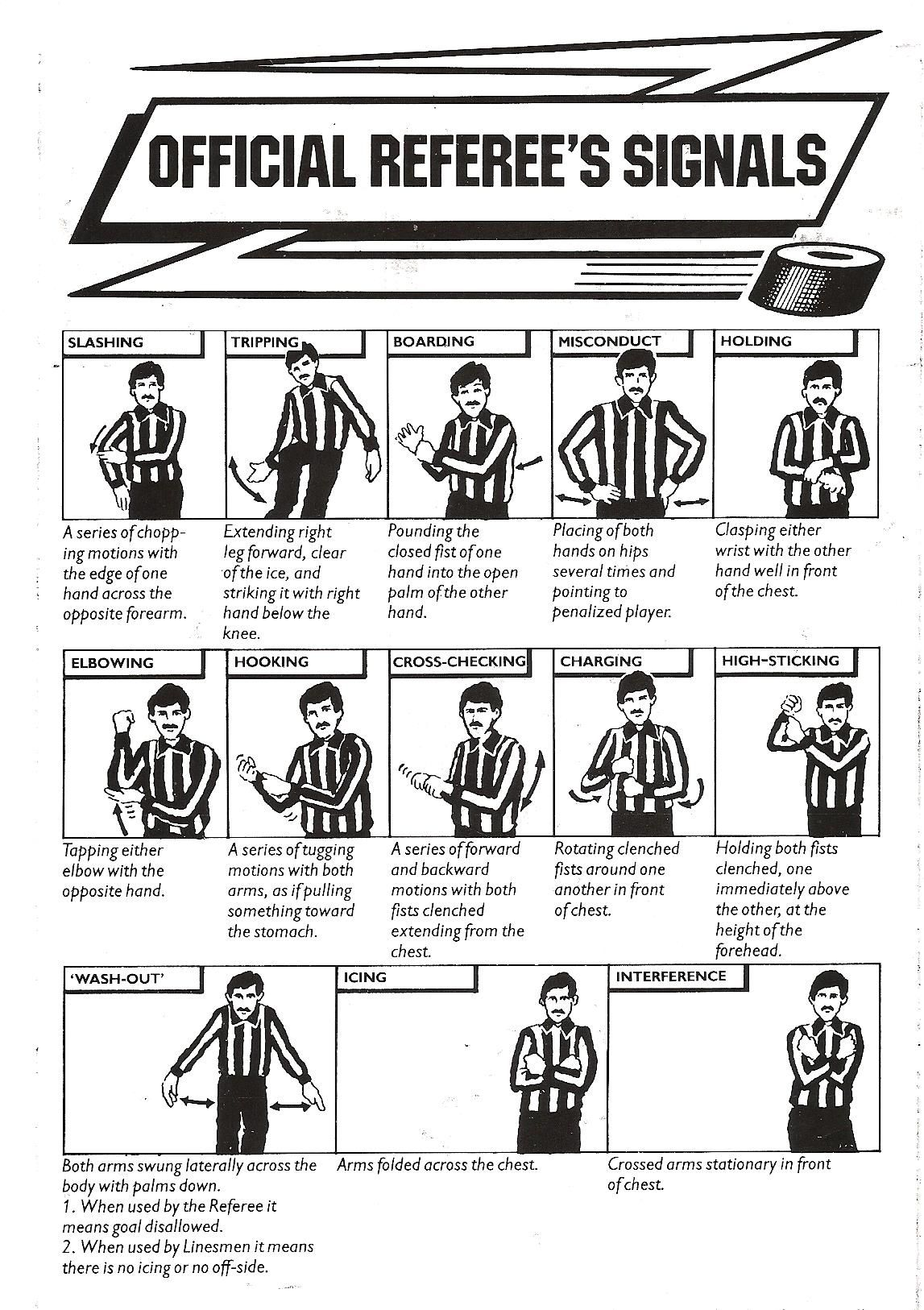 Ice Hockey Signals Ice Hockey Hockey Rules Hockey