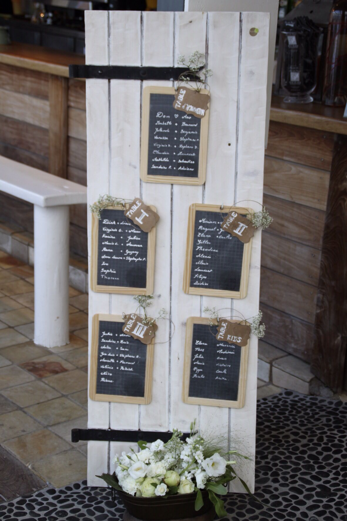 Delightful Plan De Table Bois #7: Le Plan De Table Bois/ardoise/vintage The Table Plan Wood/slate/