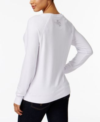 Peace Love World Graphic Sweatshirt White M L