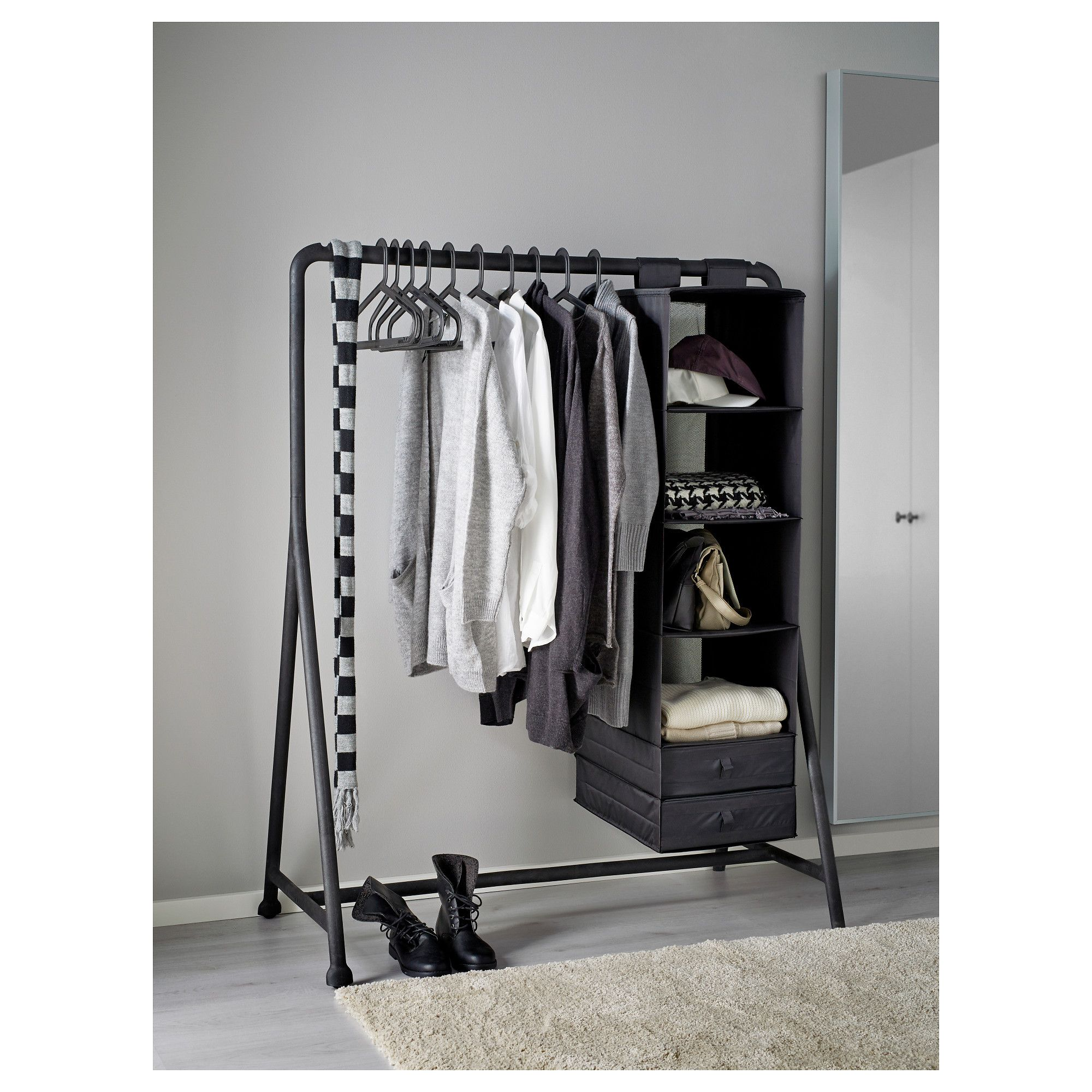 clothes metal free and wood product garden home today overstock rack shipping