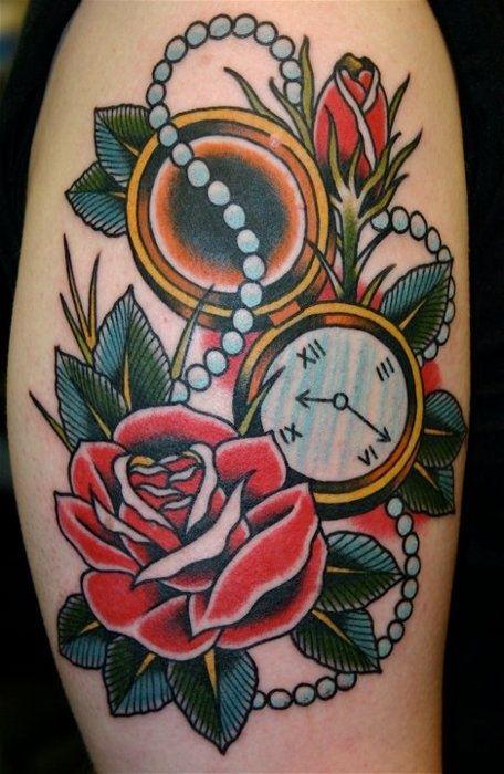 Old School Roses Tattoo Google Search New Tattoo Ideaa