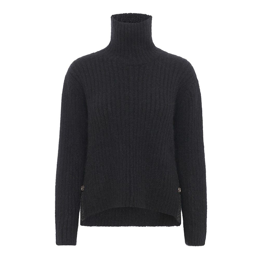 sort rullekrave sweater