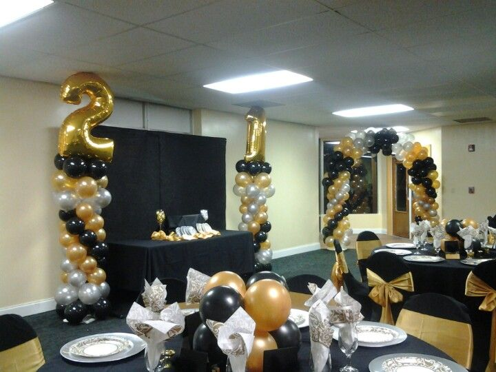 21st birthday party decorations parties and celebrations. Black Bedroom Furniture Sets. Home Design Ideas