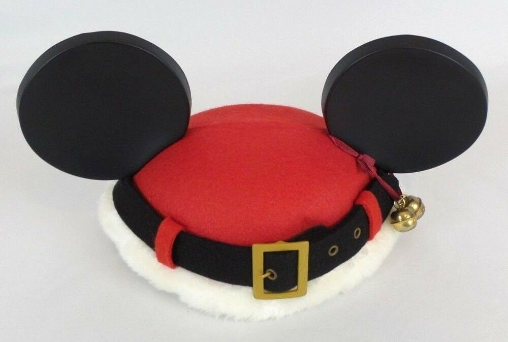 9b6ea8bf80352 Disney Mickey Mouse Santa Ear Hat Christmas Holiday Red Youth One Size   Disney