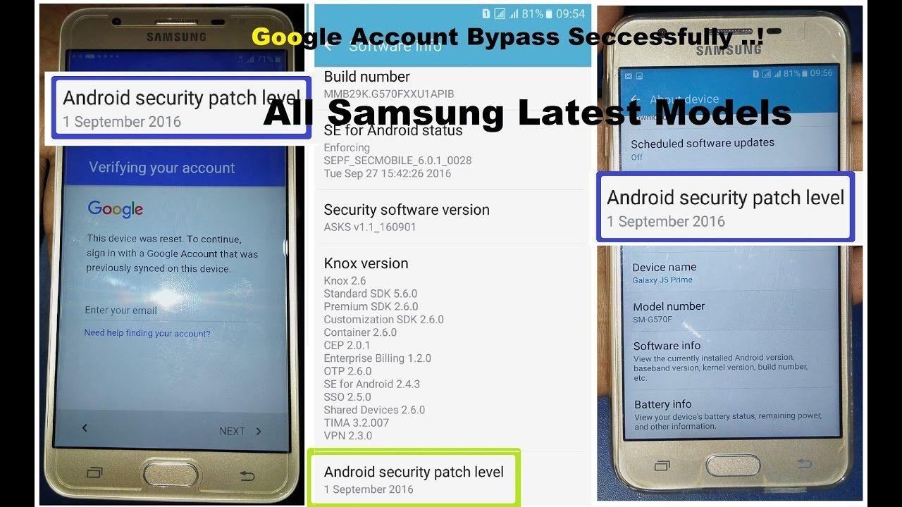 Samsung Galaxy J5 Prime Verify Google Account Bypass 1
