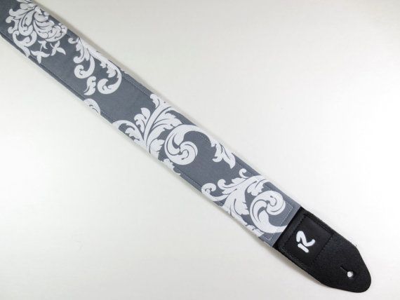 Damask Print Guitar Strap  Women's Cute Guitar by RevGuitarStraps, $30.00, another option
