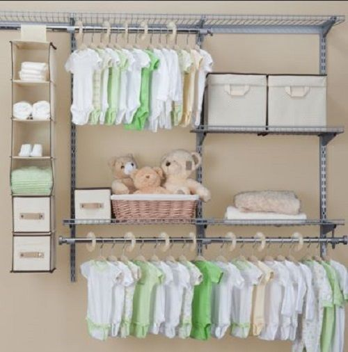 Nursery Baby Closet Organizer Set Storage Dividers Beige Nurseryclosetorganizer Nursey Design Pregancy