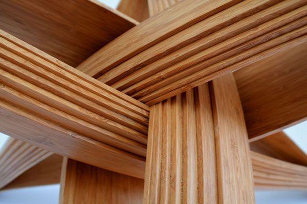 modernas mesa de comedor piernas detalles diseny Pinterest - muebles de bambu modernos