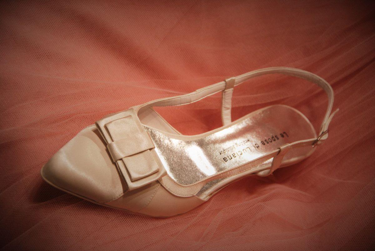 Scarpe Sposa 3 Cm.Calzature Sposa Tacco Basso 3 Cm In Raso Avorio Scarpe Tacchi