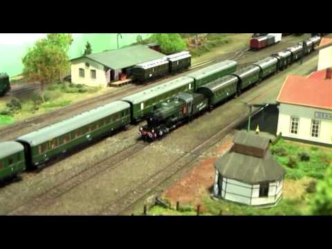 German WWII HO Model Train Layout | VIDEOS | Ho model trains