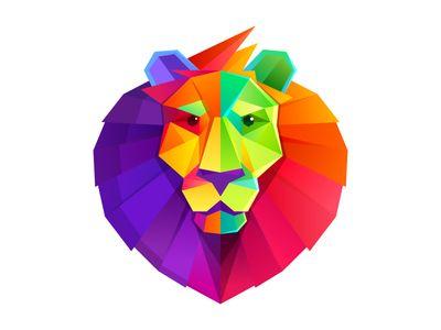 Rainbow Lion Head