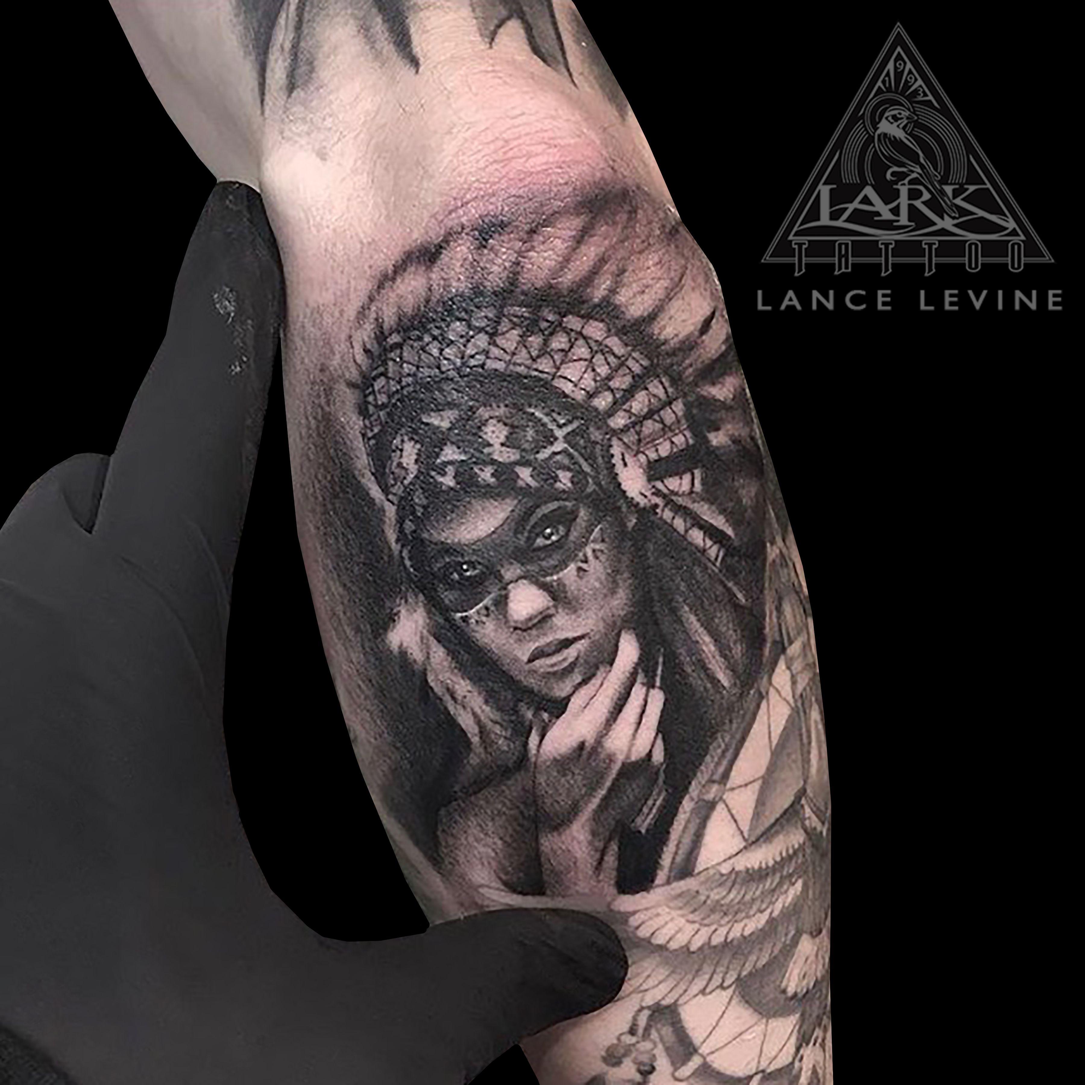 af47db39d7b38 Tattoo by Lark Tattoo artist Lance Levine. #Portrait #PortraitTattoo #BNG  #BNGInkSociety #BNGTattoo #BlackAndGray #BlackAndGrayTattoo #BlackAndGrey  ...