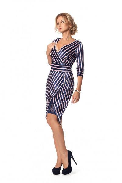 Платье № 1011 - т.синий с пудровым в интернет магазине Sosiska  сукня   4ba018e08c859