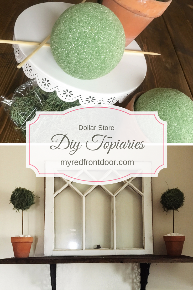 DIY Dollar Tree Topiaries Dollar tree decor, Diy living