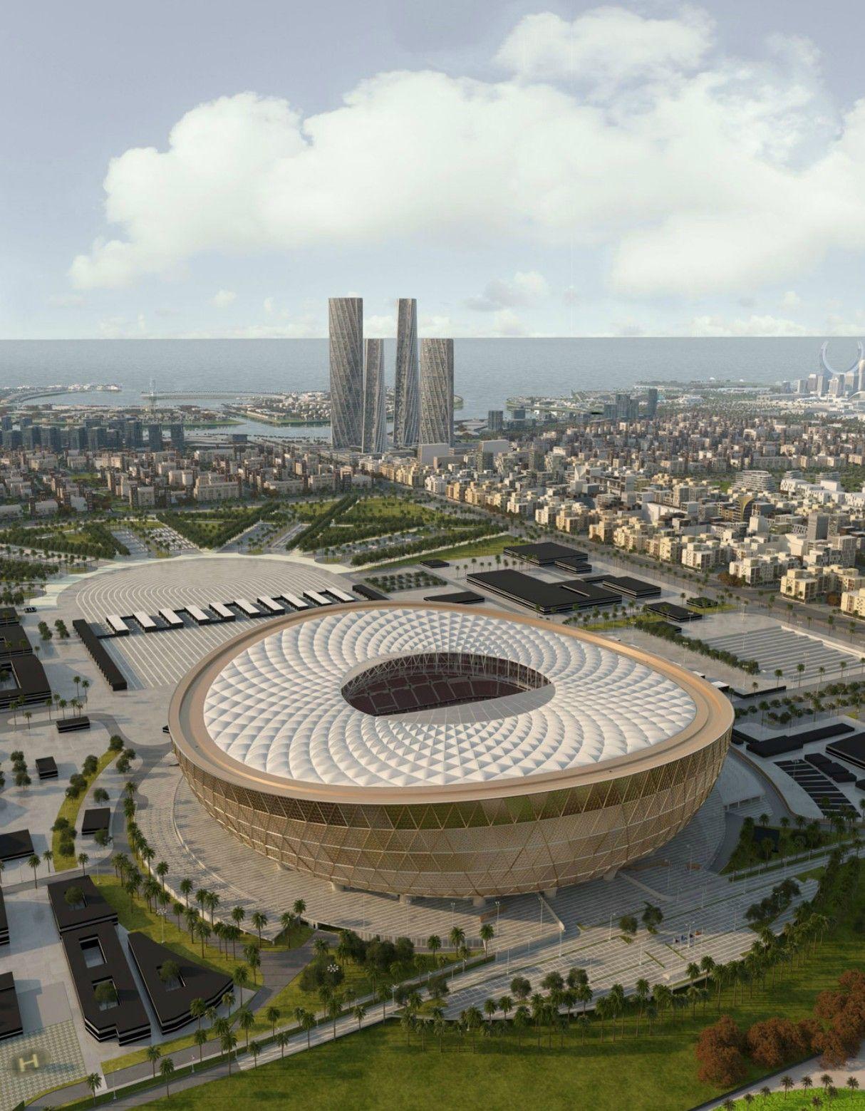 Qatar 2022 World Cup Final Stadium Revealed Stadium Architecture World Cup Stadiums Qatar Stadium