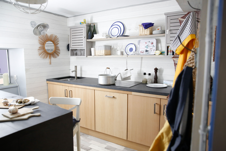 l 39 appart t va d co une cuisine esprit bord de mer tevadeco lappart sophieferjani. Black Bedroom Furniture Sets. Home Design Ideas